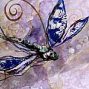 Abstract Dragonfly 9 Art Print