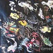 Abstract Fish212 Art Print