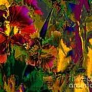Abstract Flowers Art Print by Doris Wood