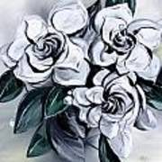 Abstract Gardenias Art Print