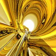 Abstract Gold Rings Art Print