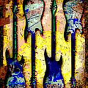 Abstract Guitars Art Print