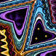 Abstract Hearts Art Print