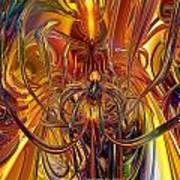 Abstract Medusa Fx   Art Print