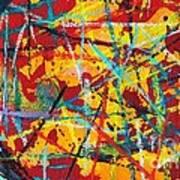 Abstract Pizza 1 Art Print