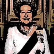 Abstract Portrait Of A Queen Art Print