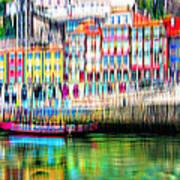 abstract Portuguese city Porto-1 Art Print