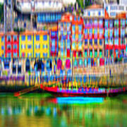 abstract Portuguese city Porto-3 Art Print