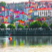 abstract Portuguese city Porto-6 Art Print