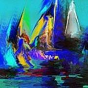 Abstract Regatta Art Print