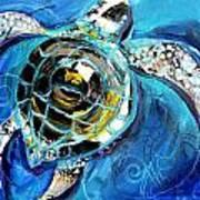 Abstract Sea Turtle In C Minor Art Print
