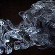 Abstract Smoke Running Horse Art Print