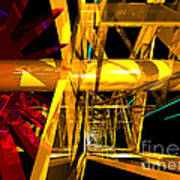 Abstract Tan 12 Imaginary Engine Art Print