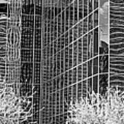 Abstract Walls Black And White Art Print