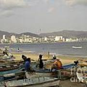 Acapulco Fishermen Art Print