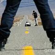 Accident Scene Photographer Art Print