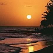 Accra Beach Sunset Art Print