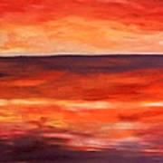 Across The Bay Art Print by Peter Edward Green