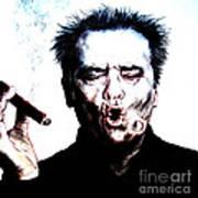 Actor Jack Nicholson Smoking  II Art Print