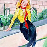 Actress In A Walled Garden Art Print