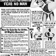 Ad: Body-building, 1969 Art Print