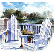 Adirondack Chairs Too Art Print