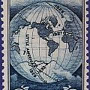 Admiral Richard Byrd Postage Stamp Art Print