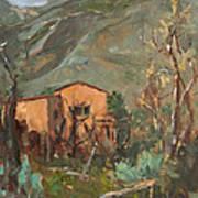 Adobe And Taos Mountains Art Print