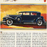 Ads: Packard, 1932 Art Print