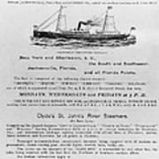 Advertisement: Steamship Art Print
