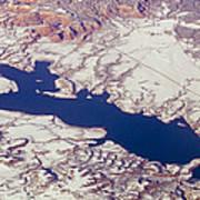 Aerial Of Abiquiu Reservoir Covered Art Print