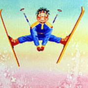 Aerial Skier 17 Art Print by Hanne Lore Koehler