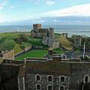 Aerial View Of Dover Castle Art Print