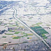 Aerial View Of Flooded Farmland Art Print