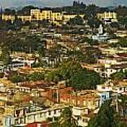 Aerial View Of Santiago De Cuba, Cuba Art Print