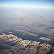 Aerial View Of The Mountainous Art Print