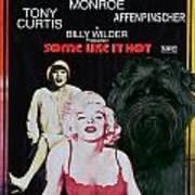 Affenpinscher Some Like It Hot Movie Poster Art Print