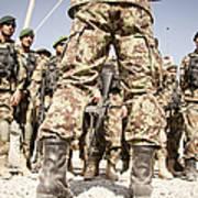 Afghan Air Force Members Get Briefed Art Print