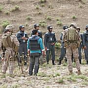 Afghan Police Students Listen To U.s Art Print