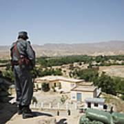 Afghan Policeman Standing Art Print