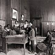 African American Children Learning Art Print