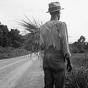 African American Man In Living In Rural Art Print