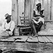 African American Sharecroppers, Titled Art Print by Everett