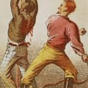African American Slave Being Whipped Art Print by Everett