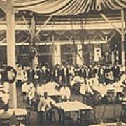 African American Waiters At A Banquet Art Print by Everett