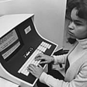 African-american Woman Computer Art Print