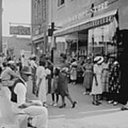 African Americans Shopping And Visiting Art Print by Everett