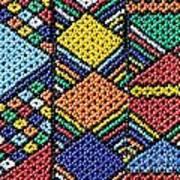 African Beadwork 2 Art Print