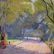 Afternoon In The Park Art Print