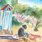 Afternoon On A Cretan Beach Art Print